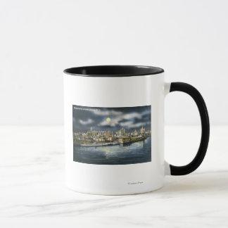 Mug Vue d'horizon d'Albany la nuit