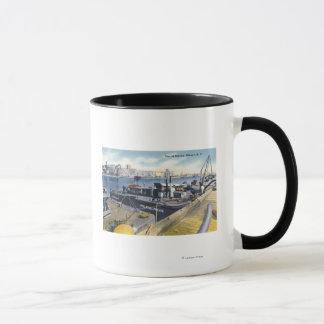 Mug Vue du port d'Albany, solides solubles Iroquois
