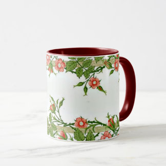 Mug William Morris - art décoratif de rose de