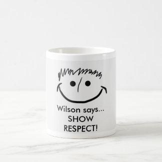 Mug Wilson indique le RESPECT d'EXPOSITION inspiré de