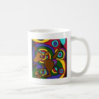 Mug XX kangourou d'art abstrait
