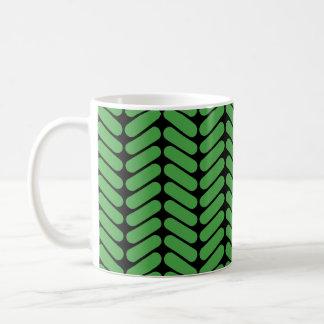 Mug Zigzags de vert vert inspirés par le tricotage