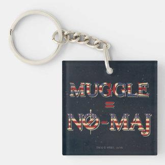 Muggle = geen-Maj Sleutelhanger