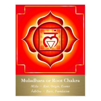 Muladhara ou carte postale de Chakra de racine