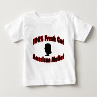 Mulet frais d'Américain de coupe de 100% T-shirt Pour Bébé