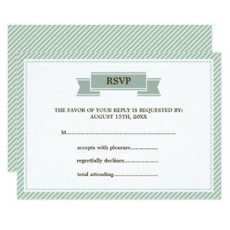 Munt & de Witte Kaarten van het Huwelijk RSVP van 8,9x12,7 Uitnodiging Kaart