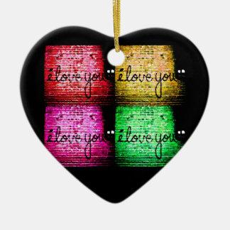 Mur d'amour de graffiti d'art de bruit ornement cœur en céramique