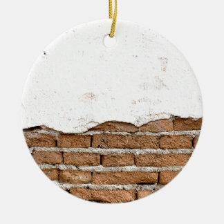 Mur de briques grunge ornement rond en céramique