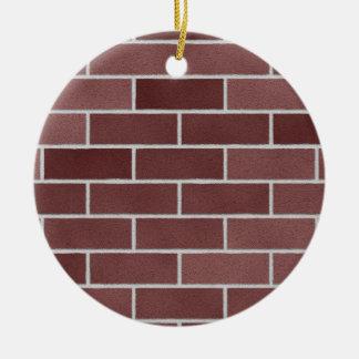 Mur de briques rouge ornement rond en céramique