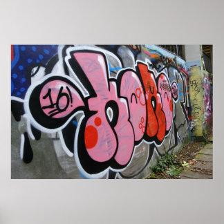 Mur de graffiti poster