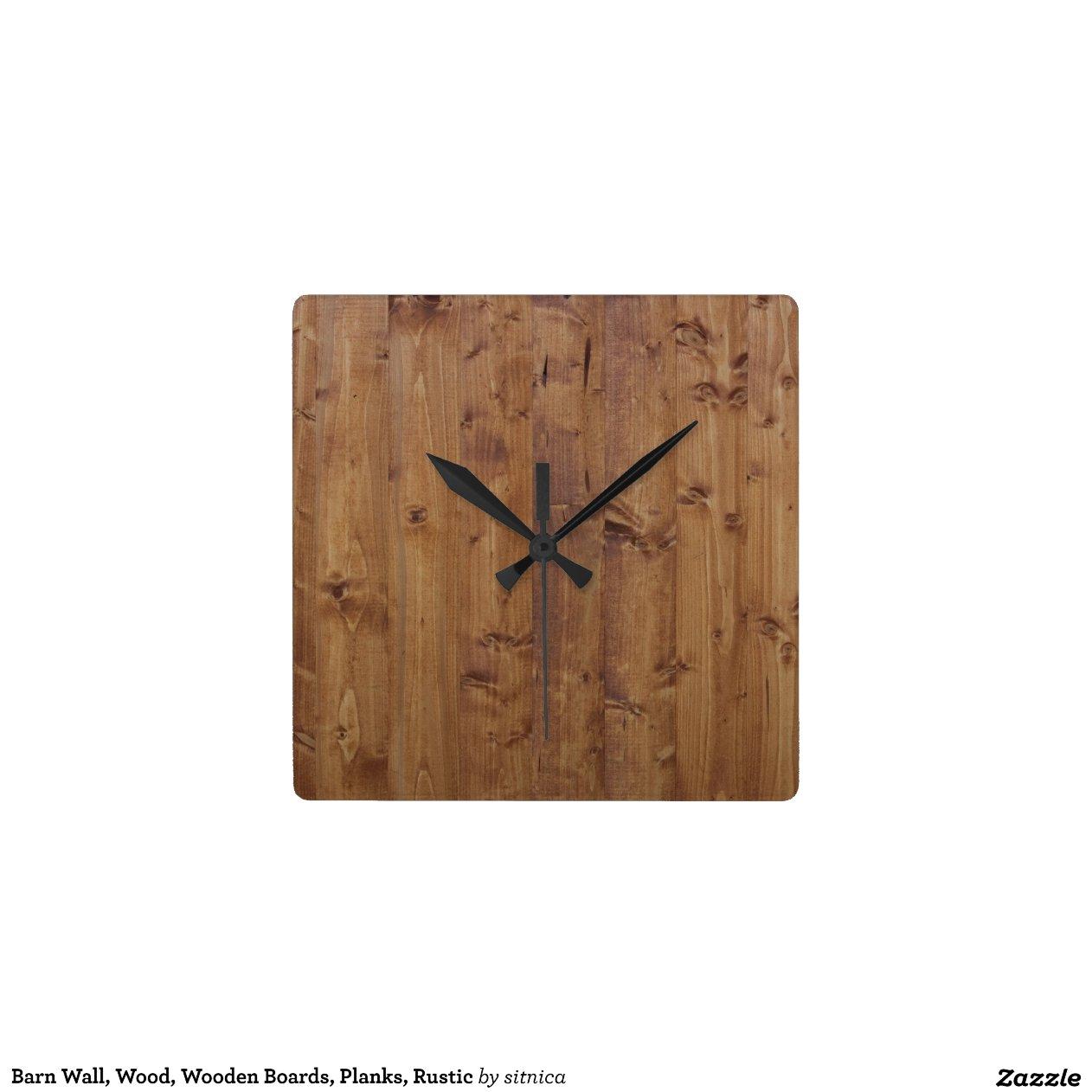 Mur de grange fait de vieilles planches en bois  horloge  ~ Vieille Horloge En Bois
