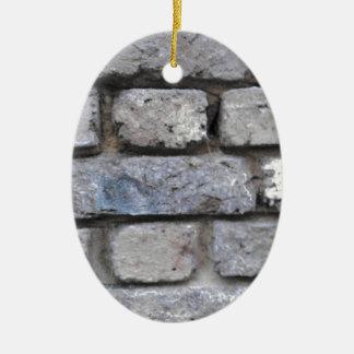 Mur en pierre de brique rustique ornement ovale en céramique