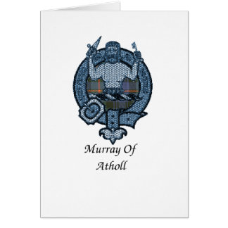 Murray de crête de clan d'Atholl Carte De Vœux
