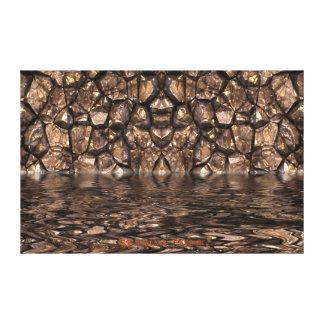 Murs de Styx de rivière de toile d'art abstrait de