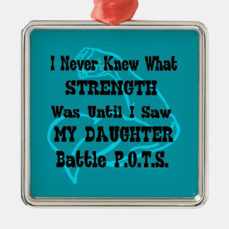 Muscle/I n'a jamais connu… la fille Ornement Carré Argenté