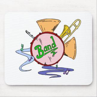 Musicien d'instruments de musique de logo de tapis de souris