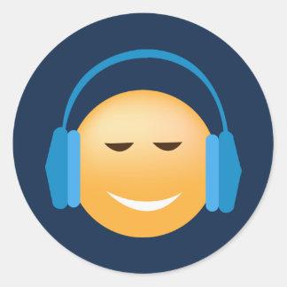 Musique aimant des autocollants d'Emoji