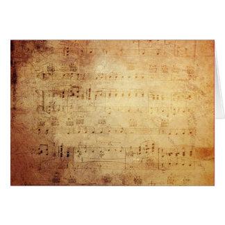 Musique antique carte de vœux