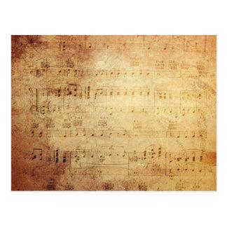Musique antique carte postale