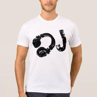 musique d.j./écouteur du DJ T-shirt