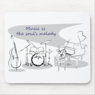 Musique d'âme tapis de souris
