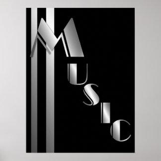 Musique dans la typographie Argent-Modifiée la