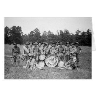 Musique de champ Band, 1925 Carte De Vœux