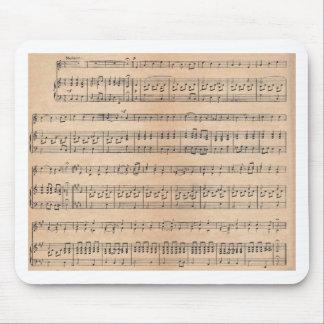 Musique de feuille tapis de souris
