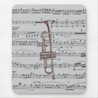 Musique de trompette tapis de souris