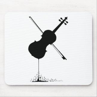 Musique débordante de violon tapis de souris