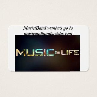musique et bande cartes de visite