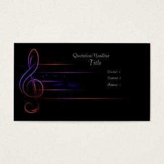 Musique et lumière cartes de visite