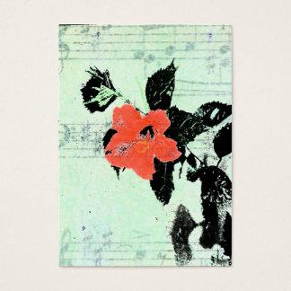 Musique florale cartes de visite