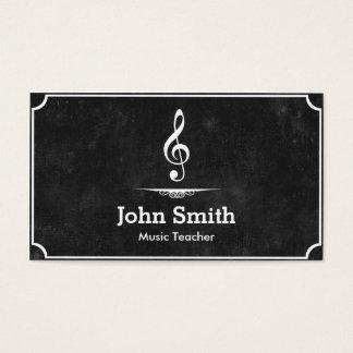 Musique foncée cartes de visite