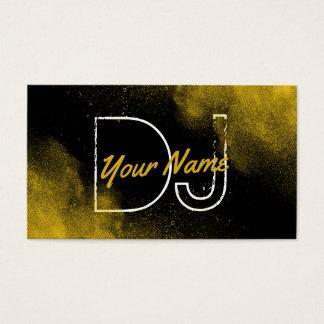 Musique fraîche de partie de poudre d'or du DJ Cartes De Visite