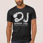 musique fraîche noire et blanche DJ Tee Shirts