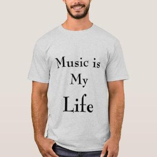 musique, la vie t-shirt