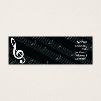 Musique - maigre mini carte de visite