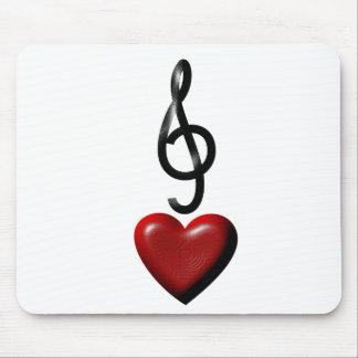 Musique Mousepad d'amour Tapis De Souris