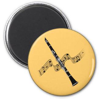 MUSIQUE : Musique de clarinette Magnet Rond 8 Cm