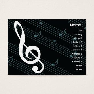 Musique - potelée cartes de visite