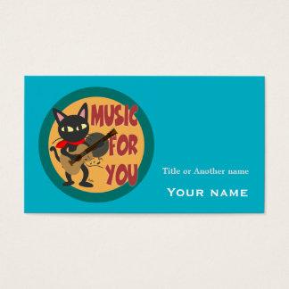 Musique pour vous cartes de visite