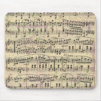 Musique vintage affligée Mousepad Tapis De Souris
