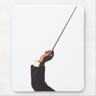 Musique vintage, la main du conducteur tenant un tapis de souris