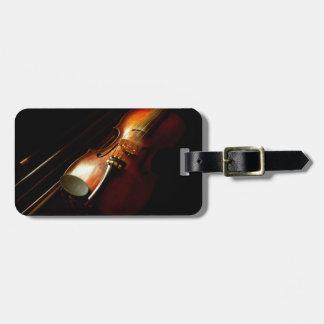 Musique - violon - les classiques étiquette à bagage