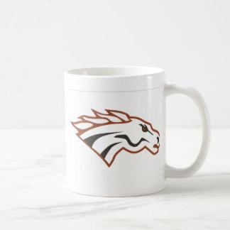 Mustangs de blanc de catégorie de rivière d'élans mug