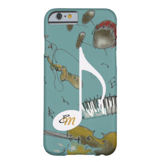 muzieknoot & muziekinstrumenten barely there iPhone 6 hoesje