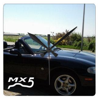 MX5 l'horloge Horloge Carrée