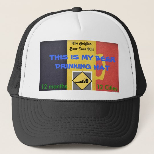 MY BEER DRINKING HAT CASQUETTE