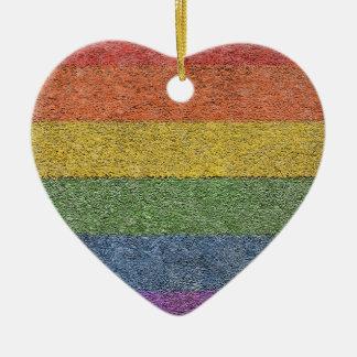 """MyPride365 - ornement de coeur """"de brique"""